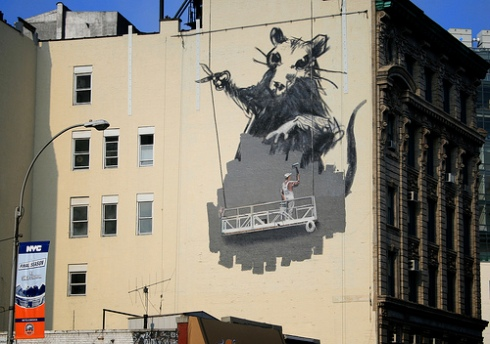 Bansky Rat Mural on Canal Street by caruba on flickr