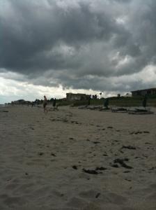 Dark Beach Skies