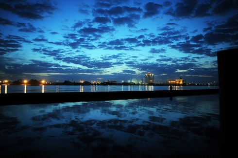 Just Before Sunrise over The Port of Tampa by ShootsNikon