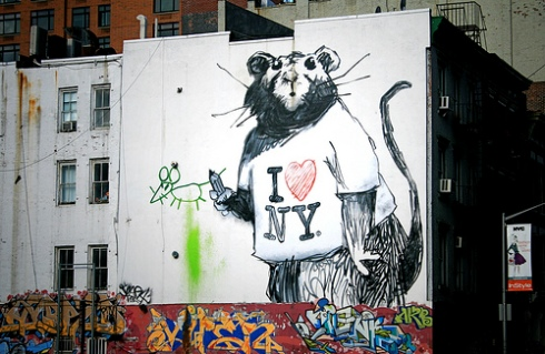 New Banksy Rat Mural in New York by caruba on flickr