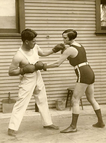 Female Boxing Champion 1926 on flickr
