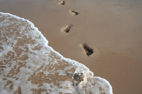 Footprints in The Sand by johncooke on flickr